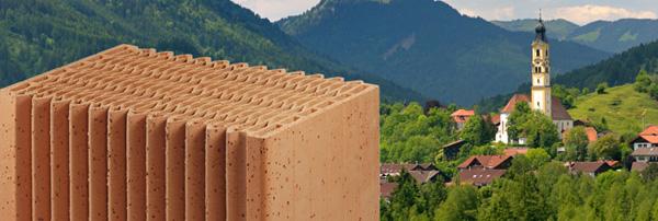 Passivhaus wandaufbau ziegel  ÖKO-ARCHITEKTENHAUS Bausystem klimaausgleichende Ziegelwand